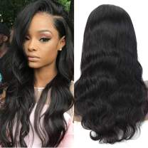 Lace Frontal Wigs 150% Density 10A Grade Brazilian Human Hair Body Wave Wigs With Baby Hair Natural Color 16 Inch 100% Human Hair Wig With 13x4 Lace