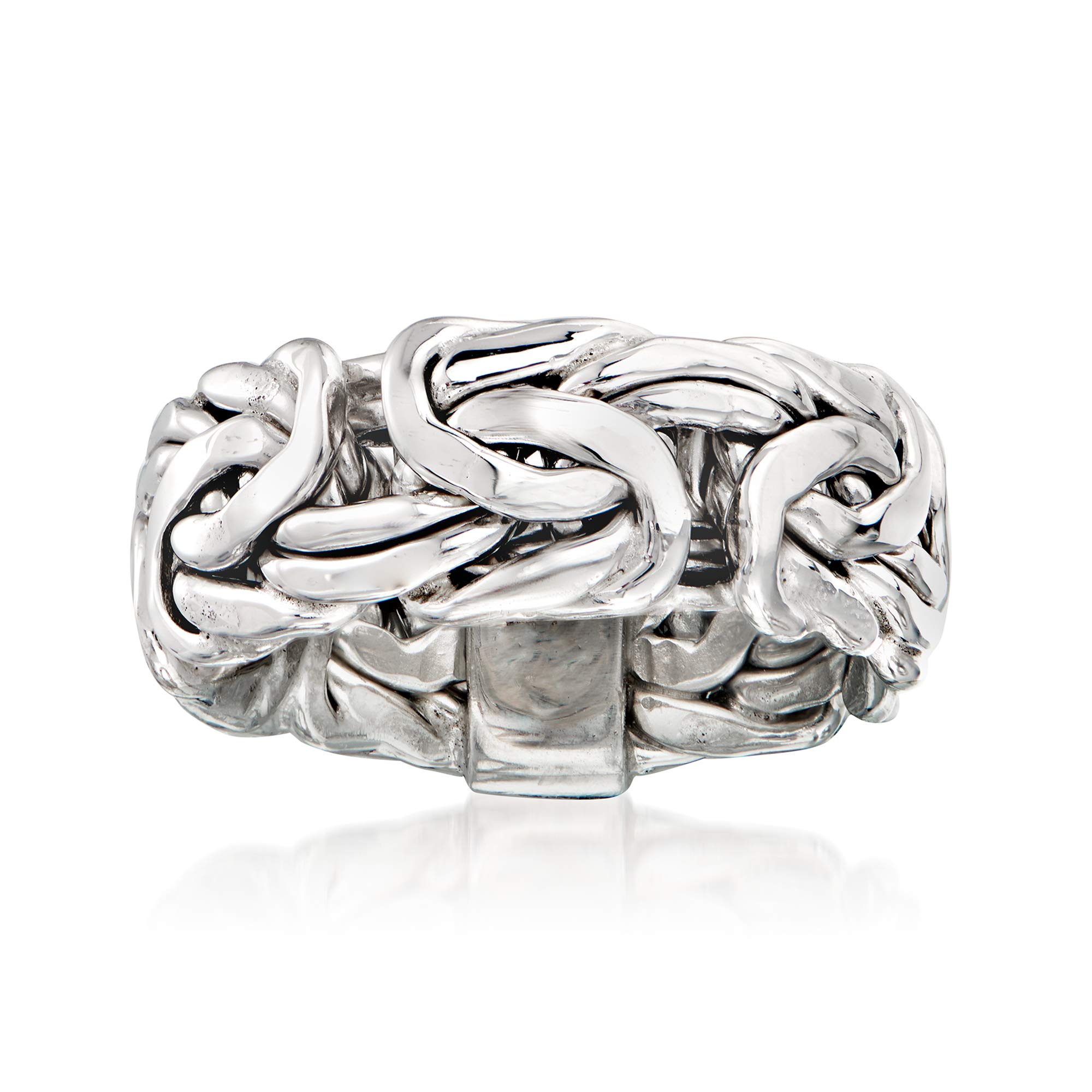 Ross-Simons Sterling Silver Large Byzantine Ring For Women 925