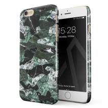 BURGA Phone Case Compatible with iPhone 6 / 6s - Jade Green Military Forest Marble Camo Camouflage Cute Case for Women Thin Design Durable Hard Plastic Protective Case