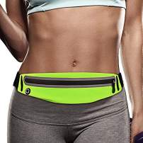 Filoto Running Belt Accessories for iPhone X 6 7 8 Plus, USA Patented Hands-Free Reflective Waist Runner Pouch, No-Bounce Adjustable Fitness Workout Fanny Pack Phone Holder for Women & Men
