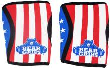 Bear Grips Extra Strength Knee Sleeves for Weightlifting. Perfect for Cross fit WODs, Gym, Squats, Powerlifting. Made for Performance & Pain Relief. Single Sleeve & Pair, Multiple Colors and Sizes.