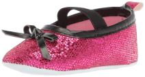 Luvable Friends Kids' Sparkly Mary Jane Crib Shoe