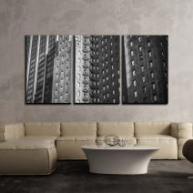 "wall26 - 3 Piece Canvas Wall Art - Photo of Modern Architecture in Monochrome - Modern Home Decor Stretched and Framed Ready to Hang - 16""x24""x3 Panels"
