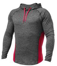 PAIZH Men's Workout Hoodie Dry Fit Lightweight Athletic Casual Long Sleeve Pullover Shirts
