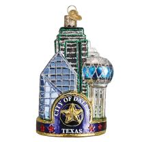 Old World Christmas, Places and Landmarks Glass Blown Ornaments for Christmas Tree Dallas City