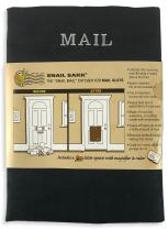 SNAIL SAKK: Mail Catcher for Mail Slots - Black. No Tools/Screws Necessary! Space efficient, Reduces drafts, and More! for Home, Office, and Garage Doors. | Basket, Letter Cage, Door, Bag |