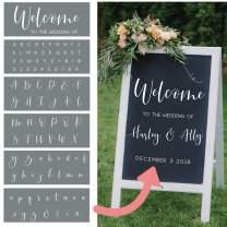 Wedding Stencils – Set of 6 Reusable Alphabet Stencils for Making Custom DIY Wedding Decorations – Easy Wedding Letter Stencils in a Modern Script Stencil Font