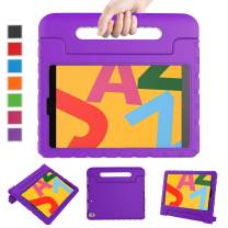 """LTROP Case for New iPad 10.2-Inch 2019 7th Generation for Kids, Shock Proof Light Weight Handle Stand Kids Case for Apple iPad 10.2"""" 2019 Latest Model and Air 3 - Purple"""