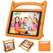 iPad Case for Kids, New iPad 2017 2018 9.7 inch Case/iPad Pro/iPad Air 1 2 Cute Case, Auorld Universal Shockproof Protective Cover with Self Stand - Orange