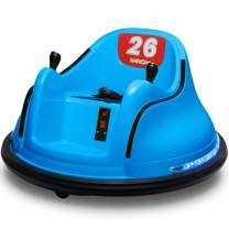 Kidzone Race #12/#21 Kids Ride-on Bumper Car 6V Electric Remote Control 360 Degree Spinning Toy ASTM-Certified, Blue