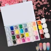 Magicdo 28 Boxes Nail Sequins Iridescent Nail Flakes Glitter Sticker Manicure Colorful Nail DIY Decals Decoration Nail Art Supplies for DIY Nail Art & Crafts Festival Face Eyes Body