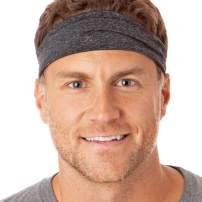 Hipsy Xflex Heather Adjustable & Stretchy Wide Headbands for Men