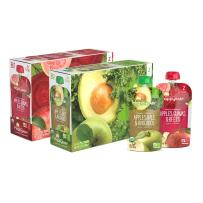 Happy Baby Organic Clearly Crafted Stage 2 Baby Food Variety Pack, Apples Kale & Avocados, Apples Guavas & Beets, 4 Ounce Pouch (Pack of 16)