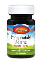 Carlson - Phosphatidyl Serine, 100 mg, Non-GMO, Brain Function, 30 Softgels
