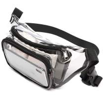 Fanny Pack, F-color Stadium Approved Bag Clear Fanny Pack for Women and Men