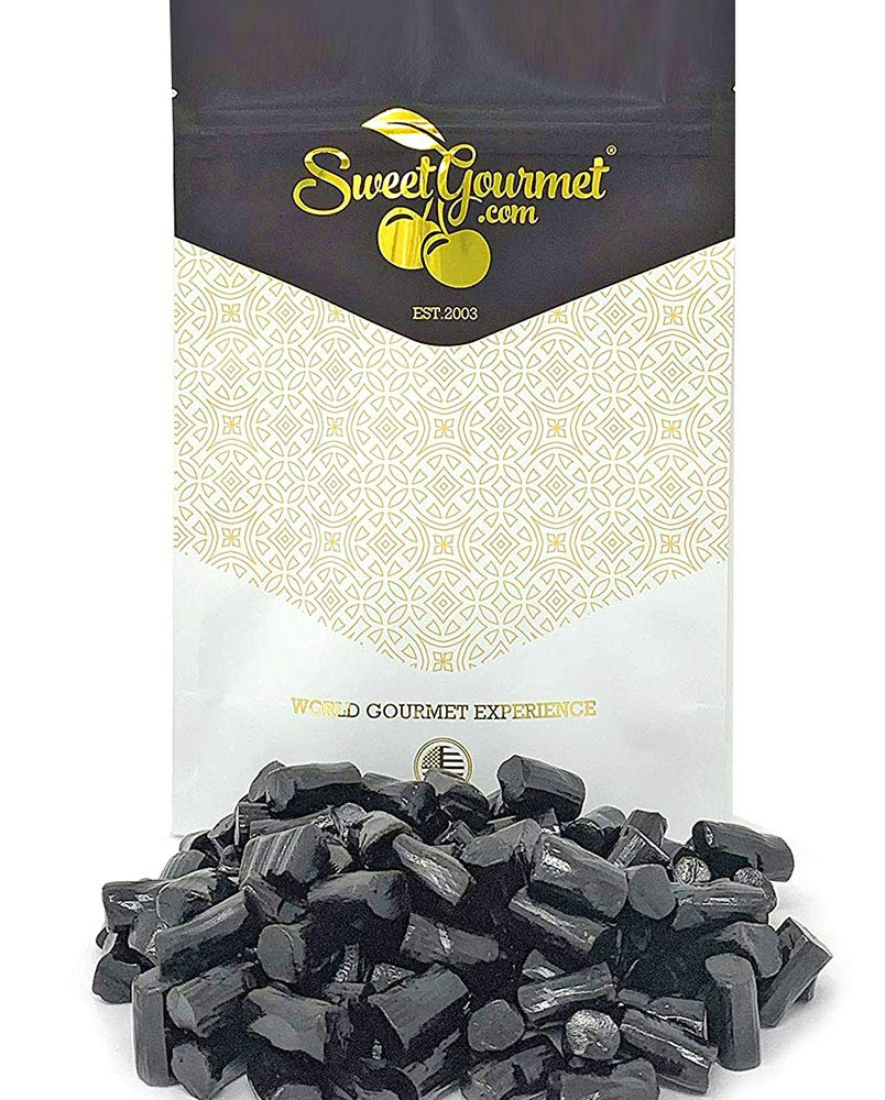 SweetGourmet Finnska Sugar Free Soft Black Licorice Candy   1 pound