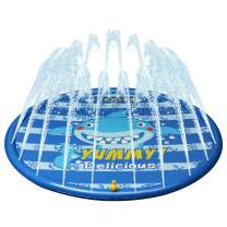 Kyerivs Splash Pad for Toddlers Sprinkler for Kids Water Play Mat for Children Outdoor Sprinkler Pad Swimming Wading Pool for 2-12 Year Old Girls Boys Babies Outdoor Water Mat Toys 60 inch