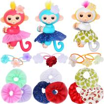 ibayda Monkey Glam 18 Piece Party Pack - Tutu Headband - Dress Up Accessories for Baby Mini Monkeys, Unicorns, Sloths, Pandas