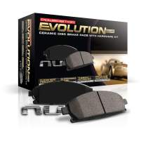 Power Stop 17-1760, Z17 Front Ceramic Brake Pads with Hardware