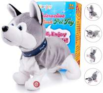 "Marsjoy Husky Robot Toy Dog Electronic Dog Toy, Plush Stuffed Animal Dog Toy , Interactive Puppy Plush Animated Dog, Robot Dog Toy for Kids Toddlers Boys Girls Length 12"""