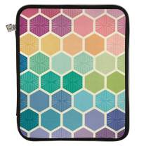 Erin Condren Large Designer Planner Folio - Hexagon, Perfect Organizer for Documents, Planners, and Notebooks. Portfolio Case Holder with Zipper and Inner Pouch