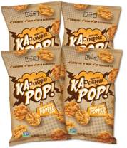 Ka-Pop! Popped Chips, Vegan Cheddar (3.25oz, Pack of 4) - Allergen Friendly, Sorghum, Gluten-Free, Paleo, Non-GMO, Whole Grain Snacks, As Seen on Shark Tank