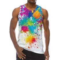 Goodstoworld Mens 3D Funny Soft Tank Top All-Over Graphic Breathable Lightweight Novelty Tees S-XXL