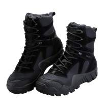 FREE SOLDIER Outdoor Men's Tactical Military Boots Suede Leather Work Boots Combat Hunting Boots