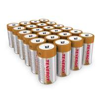 Tenergy 1.5V C Alkaline LR14 Battery, High Performance C Non-Rechargeable Batteries for Clocks, Remotes, Toys & Electronic Devices, Replacement C Cell Batteries, 24-Pack