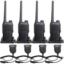 Retevis RT47 2 Way Radios UHF VOX Waterproof Encryption Scan with Speaker Mic Channel Lock Walkie-Talkies Hiking Hunting Cruise Ship Outdoor (4 Pack)