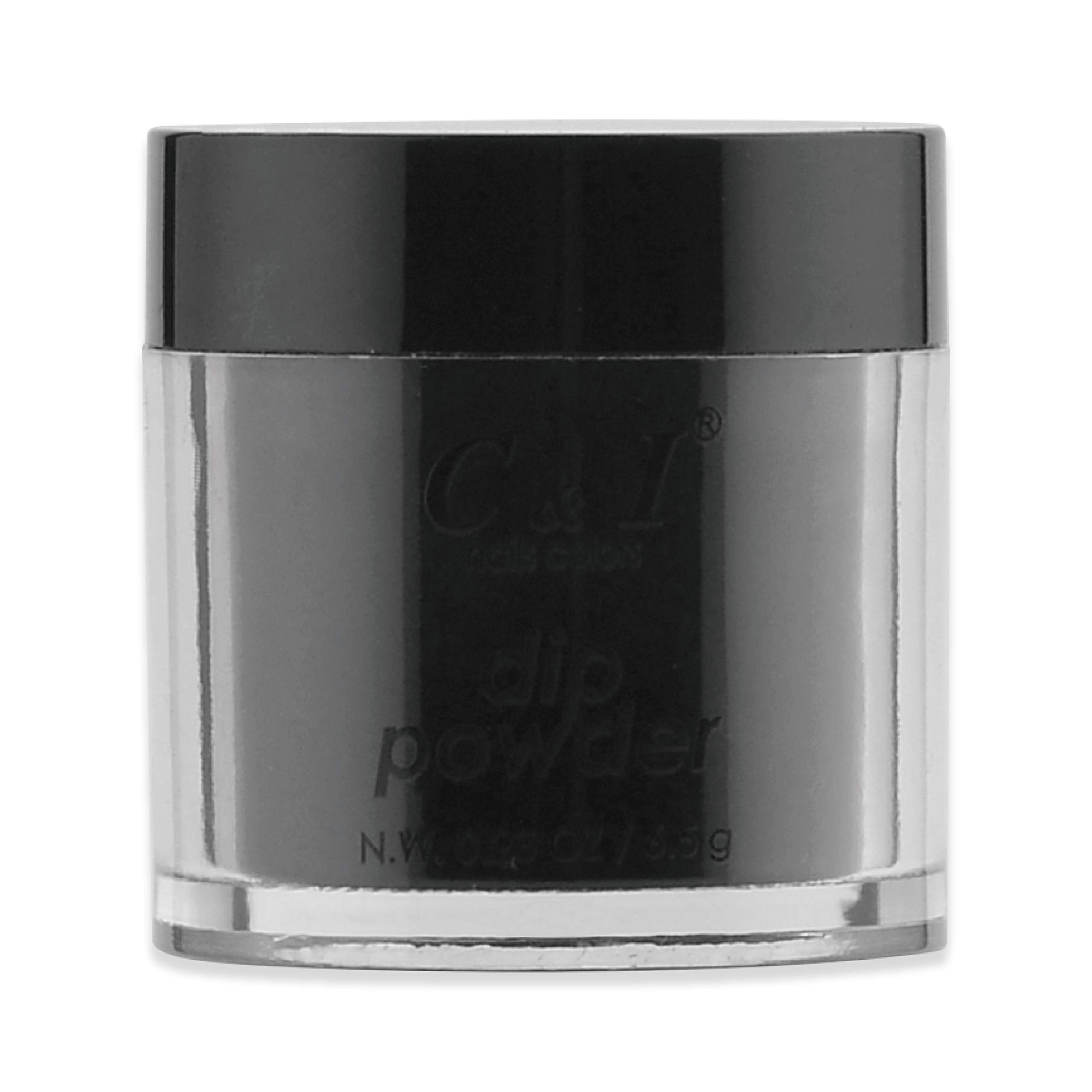 C & I Dipping Powder, Nail Colors, Gel Effect, Color # 4 Black, 0.23 oz, 6.5 g, Builder Color System (1 pc)