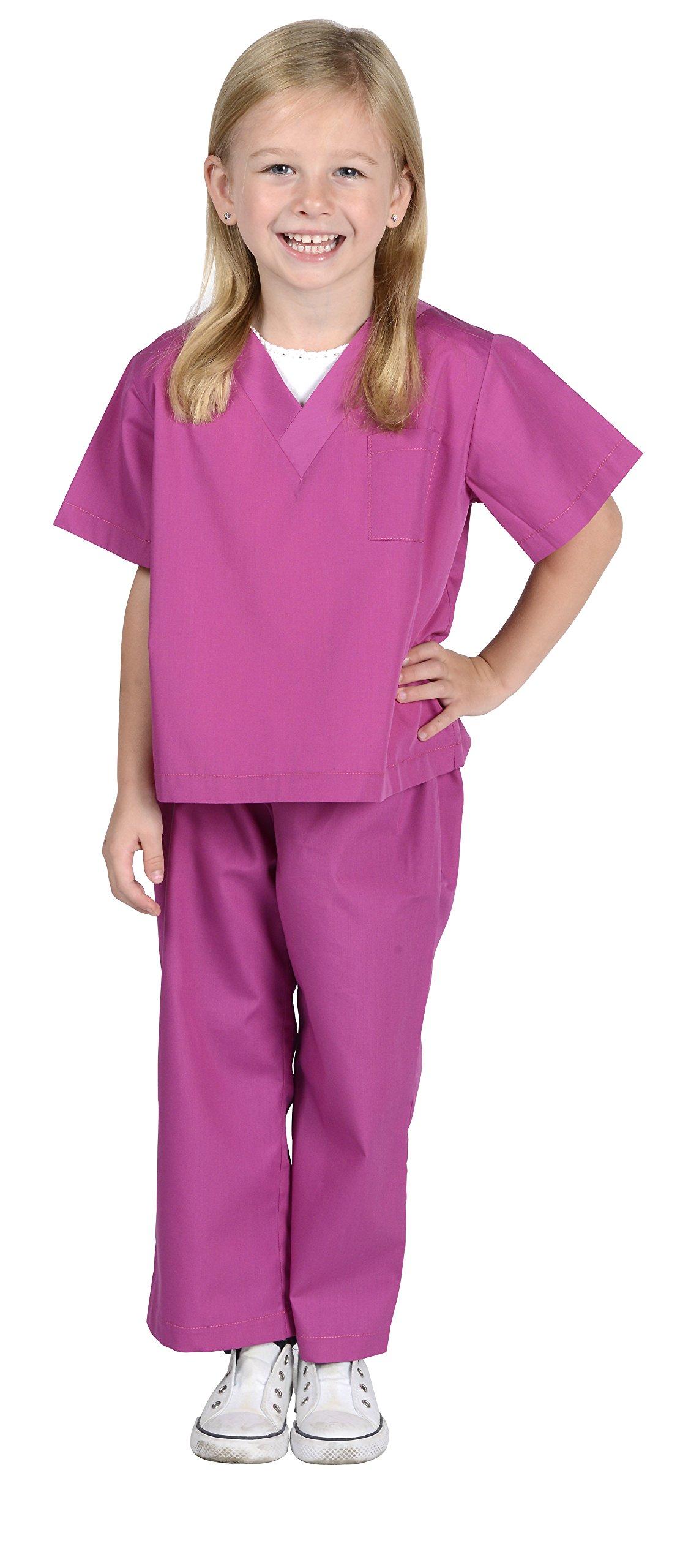 Aeromax Dr. Scrubs Costume Set, Size 8/10, Fuchsia Pink