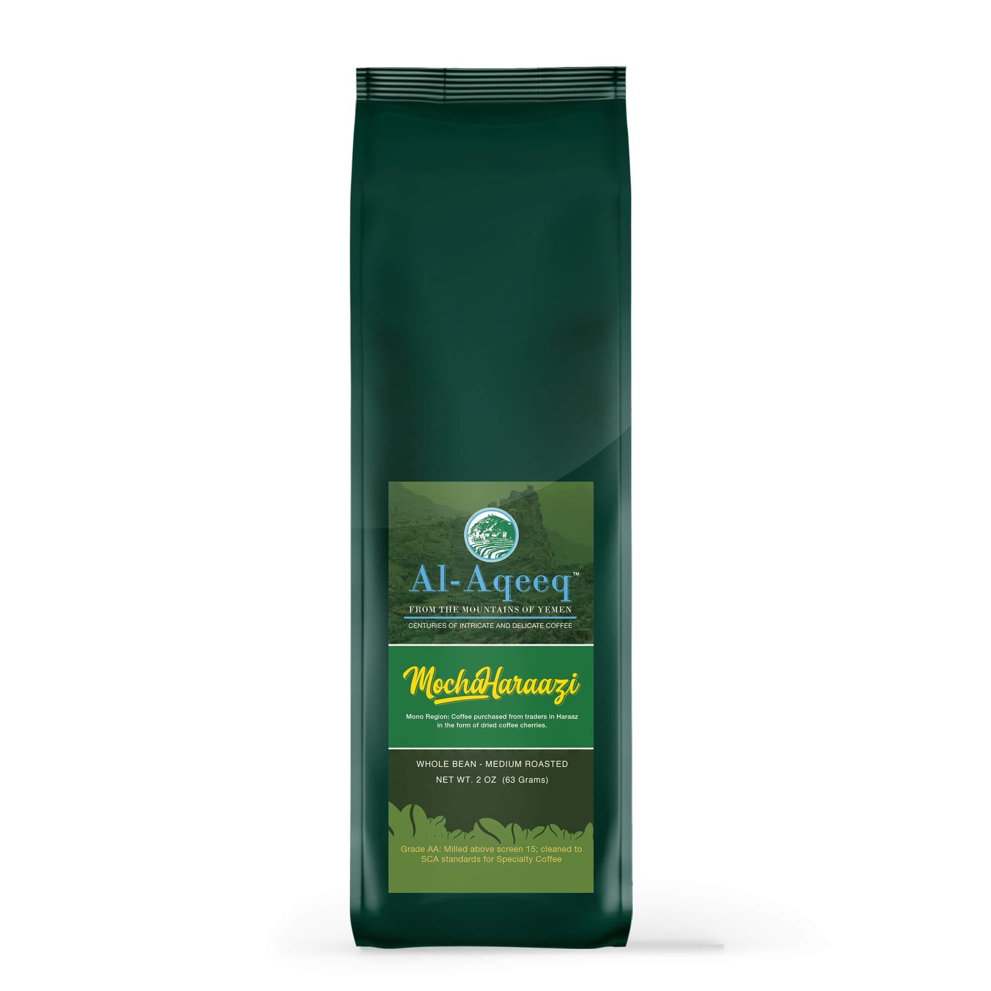 Al-Aqeeq: The Tiny Yet Powerful  Authentic Yemen Coffee  Freshly Roasted Yemeni Coffee  Mocha-Haraazi Coffee Beans  Coffee From Around The World  Arabica Coffee  Medium-Roasted Whole Bean Coffee  63g