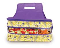 Picnic Plus Hot and Cold Food Carrier Double Layer Thermal Insulated Food Carrier Bag Potluck Carrier (Buttercup)