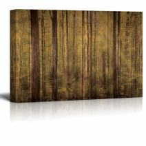 wall26 - Wood-Textured Forest Canvas - Canvas Art Home Decor - 12x18 inches
