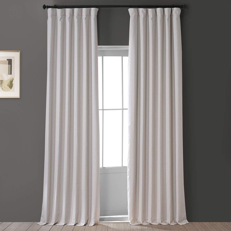 HPD HALF PRICE DRAPES PDCH-SBO8-84 Vintage Dupioni Hotel Blackout Curtain (1 Curtain), 50 X 84, Charming Gold