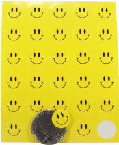 Happy Face Stickers Yellow Happy Face Labels 0.50 Inch 10 Sheets 300 Total Adhesive Stickers