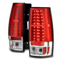 VIPMOTOZ Premium LED Tail Light Lamp For 2007-2014 Chevy Tahoe Suburban & GMC Yukon XL - Rosso Red Lens, Driver and Passenger Side