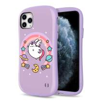 [2019] Case for iPhone 11 Pro Max, iFace [First Class] Pusheen Cat Series Dual Layer Anti Shock Fit Air Cushioned [TPU + PC] [Heavy Duty Protection], Pusheenicorn Purple