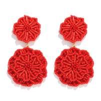 HSWE Statement Beaded Drop Earrings for Women Layered Bead Dangle Earrings