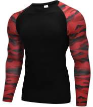 Vogyal Men's Compression Shirt Dry Fit Long-Sleeve Athletic Sports Baselayer Top
