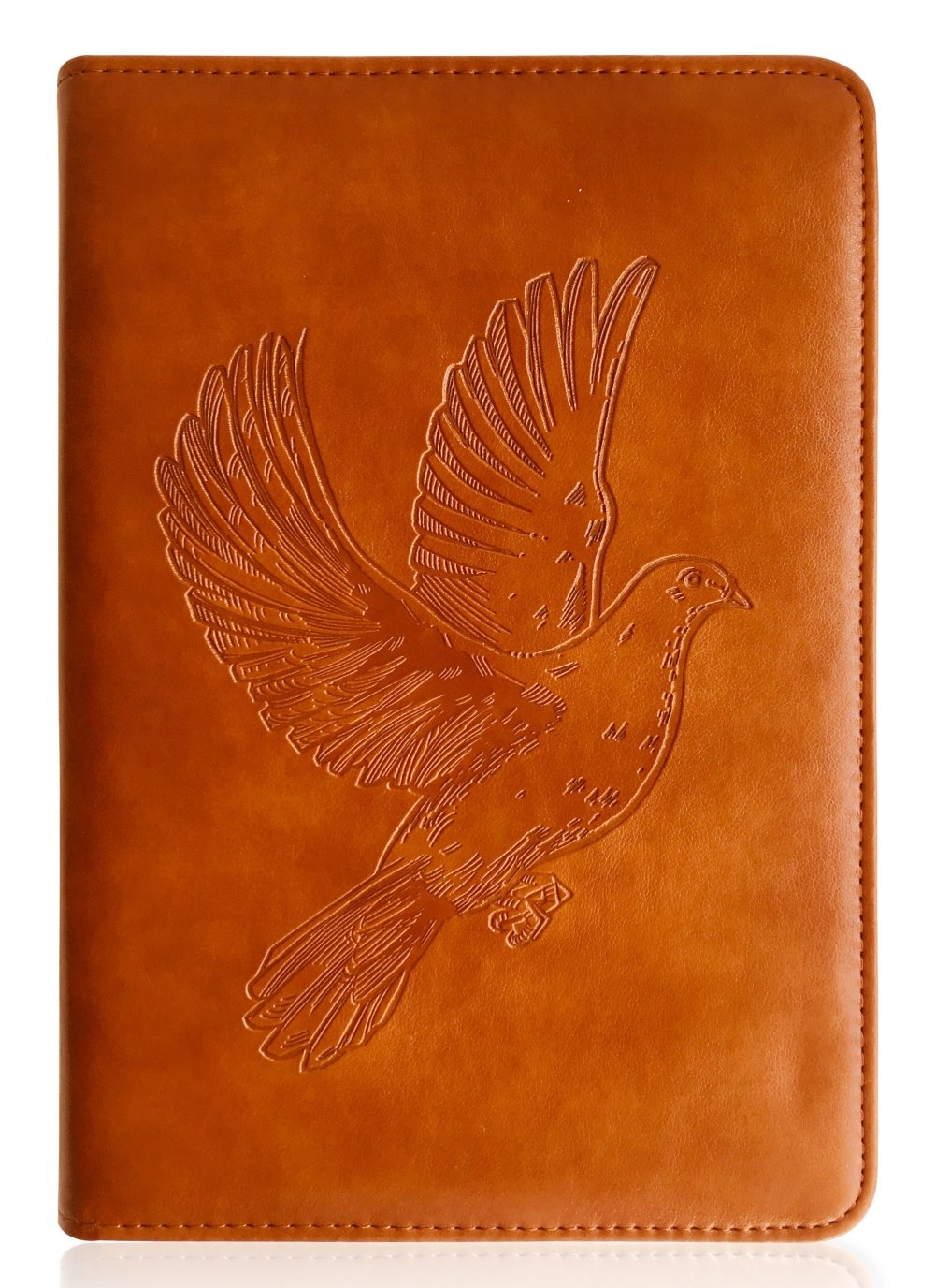 Dove Writing Journal by SohoSpark, Refillable Faux Leather, Lined Personal Diary for Travel, 6x8.75 Notebook for Writers. Fountain Pen Safe with Lay-Flat Binding.