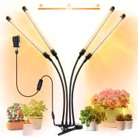 LED Grow Light for Indoor Plant JACKYLED Sunlike Full Spectrum 6 Dimmable Levels 4 Lighting Modes Adjustable Gooseneck Lamp with Auto Timer for House Garden Hydroponics Succulents Growing