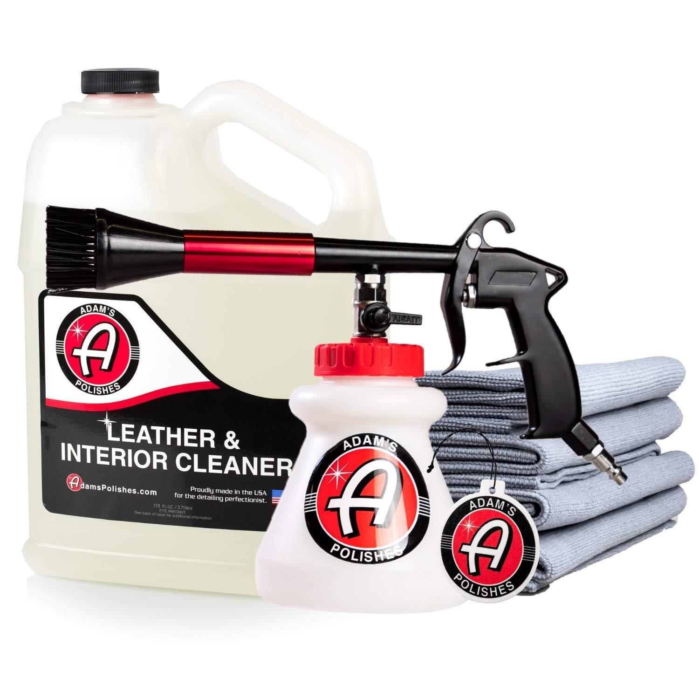 Adam's Interior Cleaning Gun - Pressurized, Compressed Air & Cleaning Solutions Deep Cleans Interior Surfaces - Clean Car Seats, Leather, Floor Mats, Carpet, Upholstery & More (Total Interior Gun Kit)