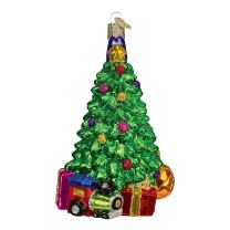 Old World Christmas Assortment Glass Blown Ornaments Christmas Morning Tree
