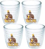 Tervis 1062240 Valparaiso Crusaders Tumbler with Emblem 4 Pack 12oz, Clear