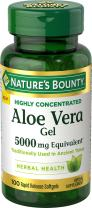 Nature's Bounty Aloe Vera Gel 5,000 mg, 100 Softgels