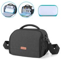 Yarwo Carrying Case for Cricut Joy, Portable Tote Bag with Accessories Storage for Cricut Pen Set and Basic Tool Set, Black