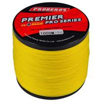 BAIKALBASS Braided Fishing Line 4 Strands Stronger Multifilament PE Braid Wire for Saltwater 6LB-100LB 110yards 328yards 547yards Super Strong Superline