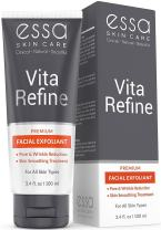 Vita Refine Exfoliating Face Scrub by Essa - Natural Beauty & Skin Care Product - Pore Minimizing Microdermabrasion Wash for Men and Women - Ideal for Oily, Dry & Sensitive Skin - 3.4 Ounces